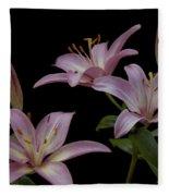 Purple Day Lilies Fleece Blanket