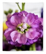 Purple Delphinium Fleece Blanket
