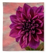 Purple Dhalia Fleece Blanket