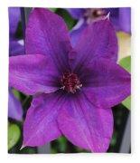 Purple Floral Fleece Blanket