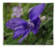 Purple Flower 2 Fleece Blanket