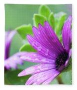Purple Flower Closeup Fleece Blanket