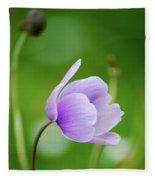 Purple Flower Looking Right Side Fleece Blanket