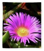 Purple Flower On California Coast Fleece Blanket