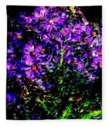 Purple Flower Still Life Fleece Blanket
