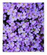 Purple Flowers - Rockcress Fleece Blanket