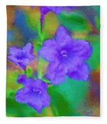 Purple Flowers 102310 Fleece Blanket