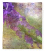 Purple Flowers 8621 Idp_2 Fleece Blanket