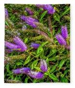 Purple Flowers Of Chiloe Fleece Blanket