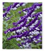 Purple Flowers Fleece Blanket