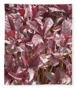 Purple Foliage Fleece Blanket