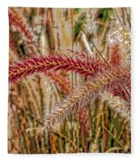 Purple Fountain Grass Abstract By H H Photography Of Florida Fleece Blanket
