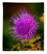 Purple Fringe Fleece Blanket