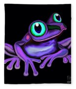 Purple Frog  Fleece Blanket