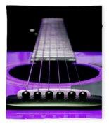 Purple Guitar 15 Fleece Blanket