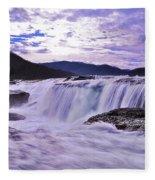 Purple Haze Waterfall Fleece Blanket
