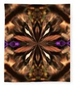 Purple Heart Design Fleece Blanket