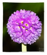 Purple Himalayan Primrose Fleece Blanket