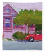 Purple House, Alameda Fleece Blanket