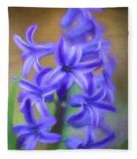 Purple Hyacinths Digital Art Fleece Blanket