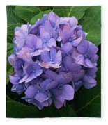 Purple Hydrangea Fleece Blanket
