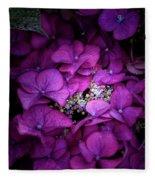 Purple Hydrangeas Fleece Blanket