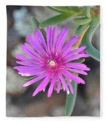 Purple Ice Flower Close Up Fleece Blanket