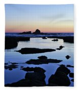 Purple In Gale Beach. Algarve Fleece Blanket