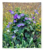 Purple In The Morning Fleece Blanket