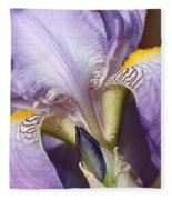 Purple Iris Beauty Fleece Blanket