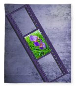 Purple Iris Passion Fleece Blanket