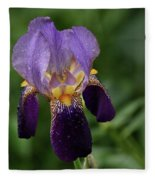Purple Iris Fleece Blanket