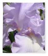 Purple Irises Artwork Lavender Iris Flowers 13 Botanical Floral Art Baslee Troutman Fleece Blanket