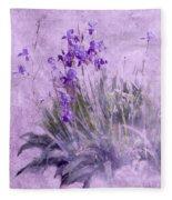 Purple Irises Fleece Blanket