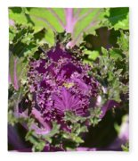Purple Kale Fleece Blanket