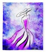 Purple Lady Charm Fleece Blanket
