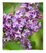 Purple Lilac Flowers Fleece Blanket