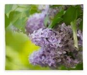 Purple Lilac Fleece Blanket