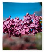 Purple Lilac Fleece Blanket