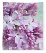 Purple Lilacs With Text Fleece Blanket