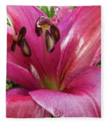 Purple Lilly In A Flower Bouquet Extreme Close-up Fleece Blanket