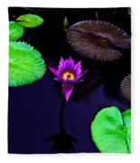 Purple Lily Fleece Blanket