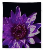 Purple Lily Monet Fleece Blanket