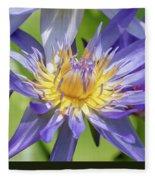 Tropical Purple Water Lily Fleece Blanket