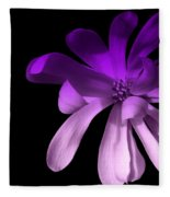 Purple Magnolia 2 Fleece Blanket