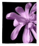Purple Magnolia Fleece Blanket