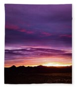Purple Majesty Sunset Fleece Blanket
