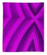Purple Maze Fleece Blanket