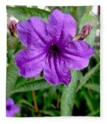 Purple Mexican Petunia Fleece Blanket