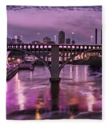 Purple Minneapolis For Prince Fleece Blanket